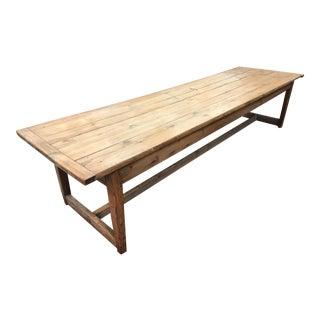Antique English Farm Table For Sale
