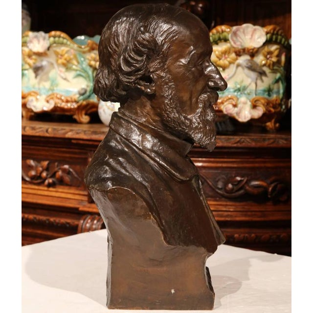 19th Century French Bronze Bust Signed by Jean-Francois Delorme For Sale - Image 5 of 9