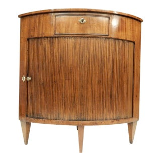 Louis XVI Walnut Corner Cabinet For Sale