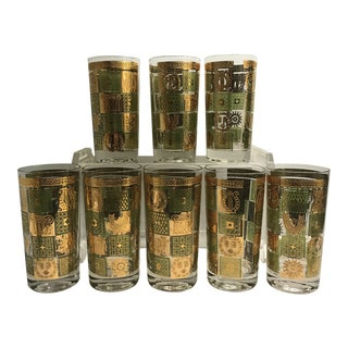 Georges Briard Golden Celeste Mid-Century Modern Glasses - Set of 8 For Sale