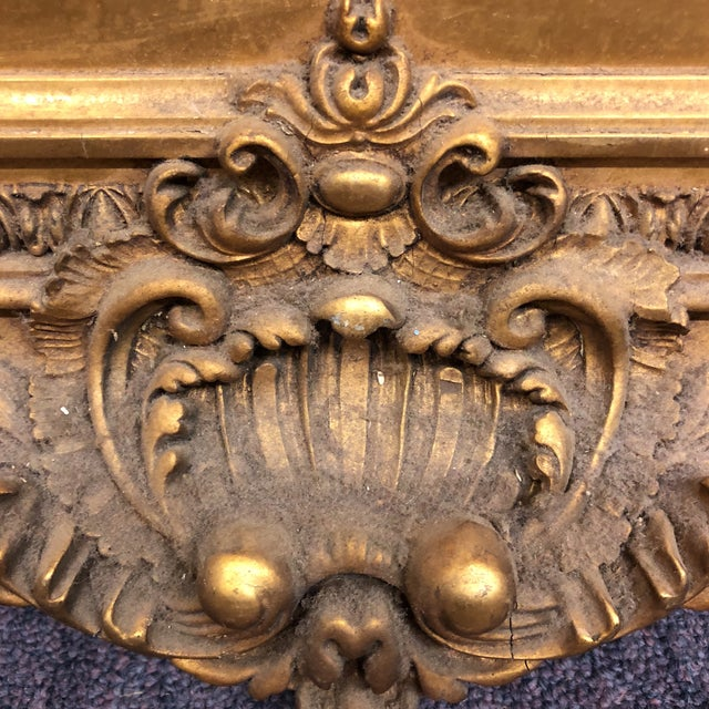 Large Gilded Acanthus Detail Floor Mirror For Sale In Atlanta - Image 6 of 8