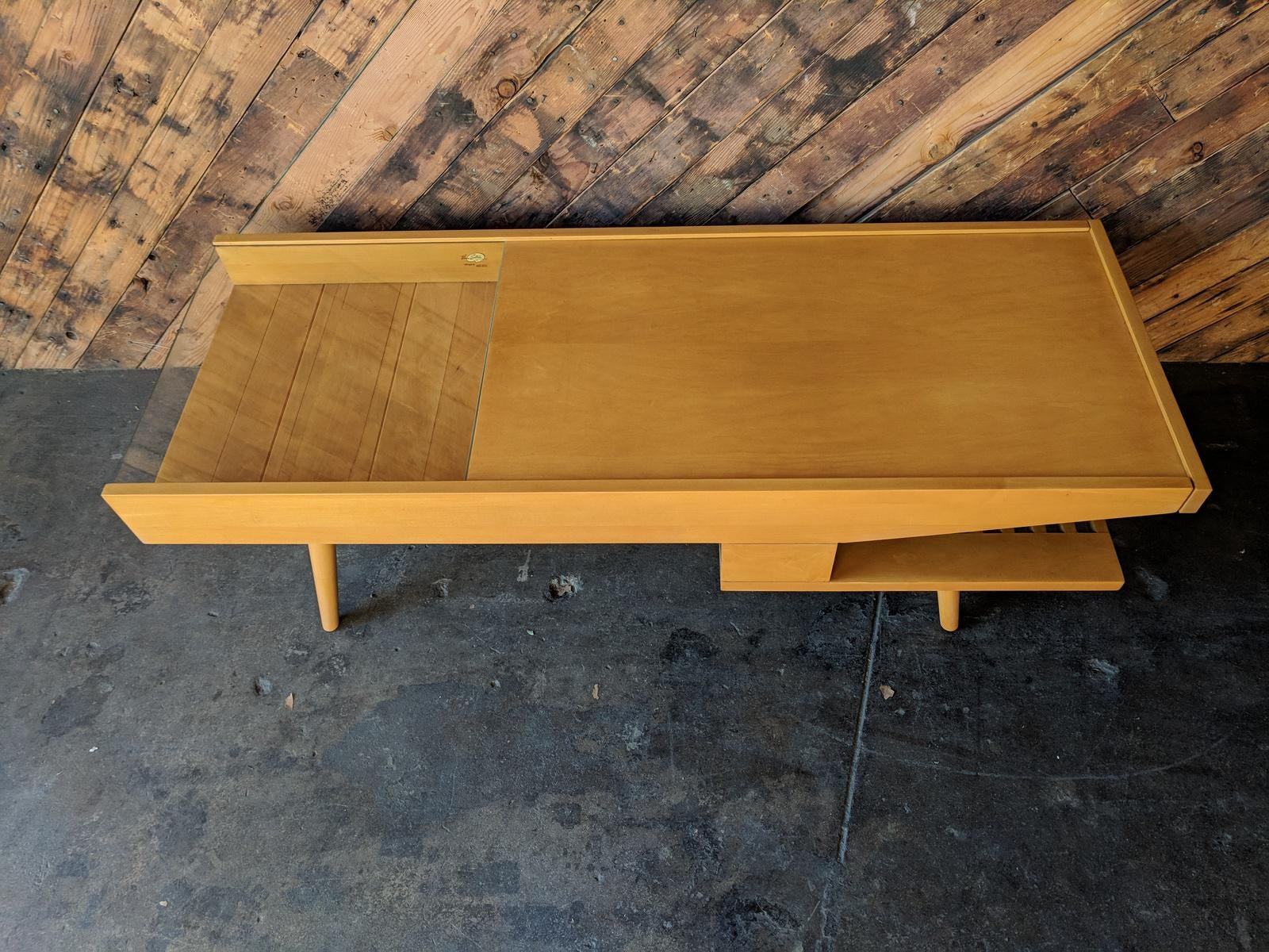 Amazing Mid Century Coffee Warmer Table By Brown Saltman   Image 2 Of 9