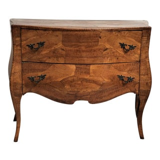 1960's Rococo Olive Wood Bombe Commode For Sale