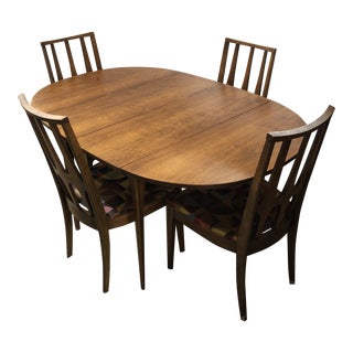 1950s Mid Century Modern Broyhill Brasilia Dining Set - 5 Pieces For Sale