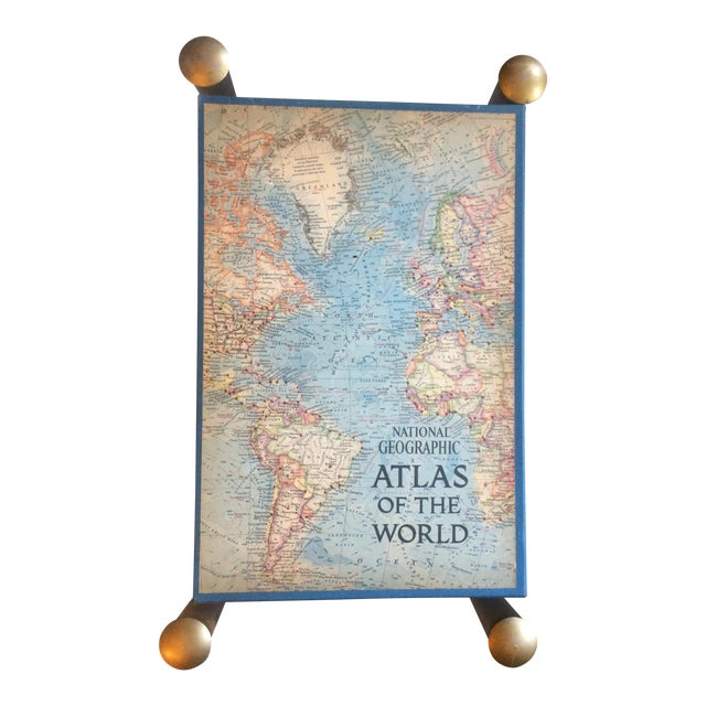 1963 National Geographic Atlas of the World First Edition Book For Sale