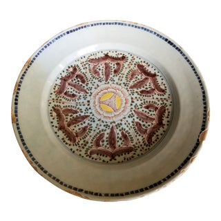 Antique Polychrome Delft Charger For Sale