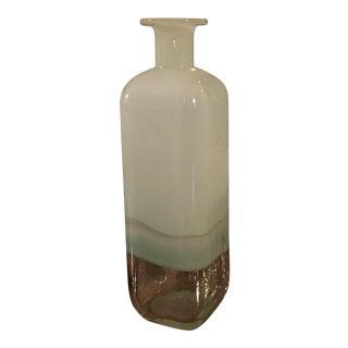 Milk-White Washed Over Vase For Sale