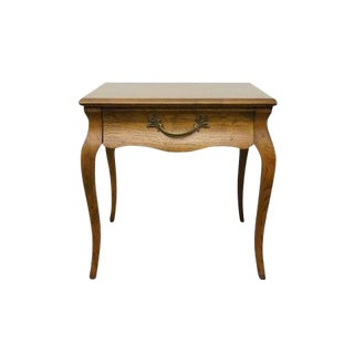 20th Century Traditional Drexel Heritage Country Parquetry Top End Table For Sale