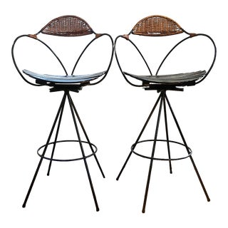 1960s Vintage Authur Umanoff Bar Stools- a Pair For Sale