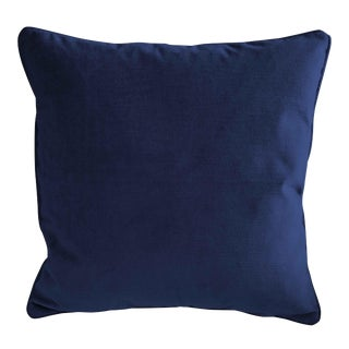 High End Navy Blue Velvet Pillow For Sale