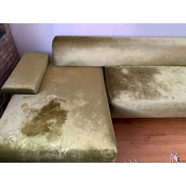 Textile Moroso Lowland Sofa With Ottoman & Side Table For Sale - Image 7 of 8