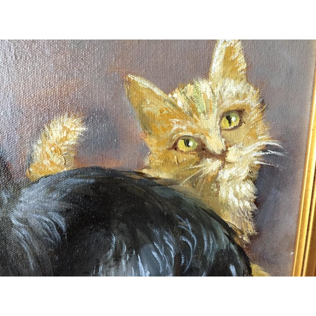 """""""Frenemies"""" Cairn Dog and Ginger Cat Painting For Sale - Image 4 of 6"""