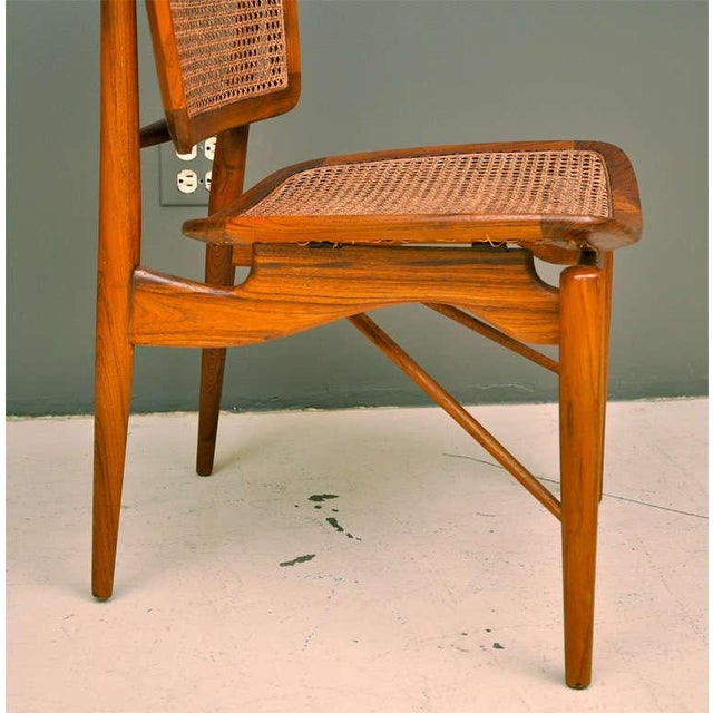 Finn Juhl Walnut & Cane Chairs - a Pair For Sale In Los Angeles - Image 6 of 7