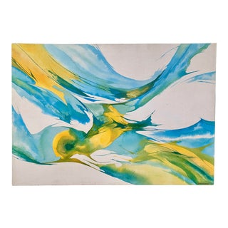 1972 Donovan Abstract Movement Painting on Canvas For Sale