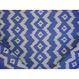 Folk Art Ralph Lauren Colonsay Ikat Indigo Outdoor Upholstery Fabric - 6-3/8y For Sale