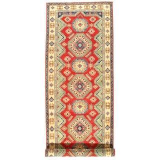 "Kazak Design Lamb's Wool Rug-16'5"" X 5'1"" For Sale"