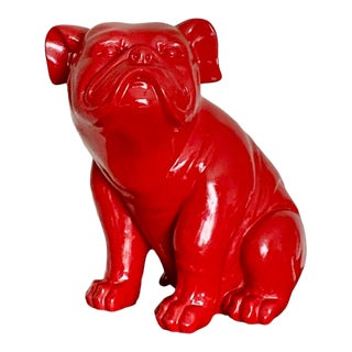 Sitting Red French Bulldog Figure For Sale
