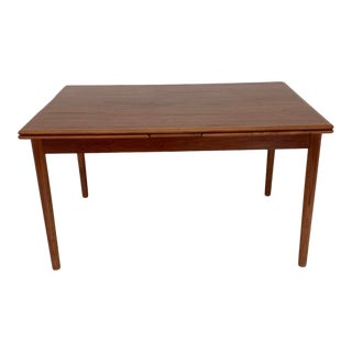 Danish Modern Draw Leaf Dining Table For Sale