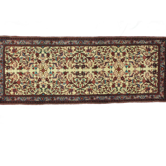 Wool pile hand made Persian Tafresh runner in mint condition.