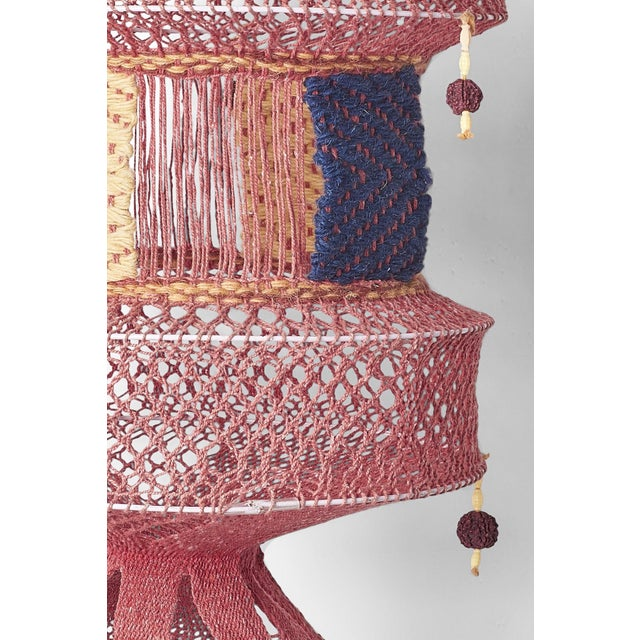 Anglo-Indian Boho Chic Handmade Mauve Lantern For Sale - Image 3 of 4