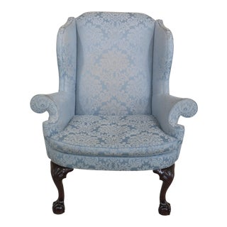 Kindel Winterthur Claw Foot Mahogany Wing Chair
