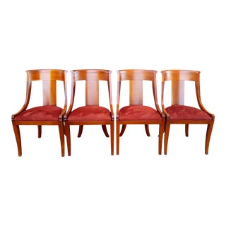 1950s Baker - Regency Style Palladian Side Chairs - Set of 4
