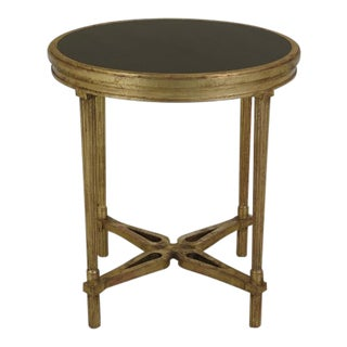French Louis XVI Style Gold Gilt Granite Top Table