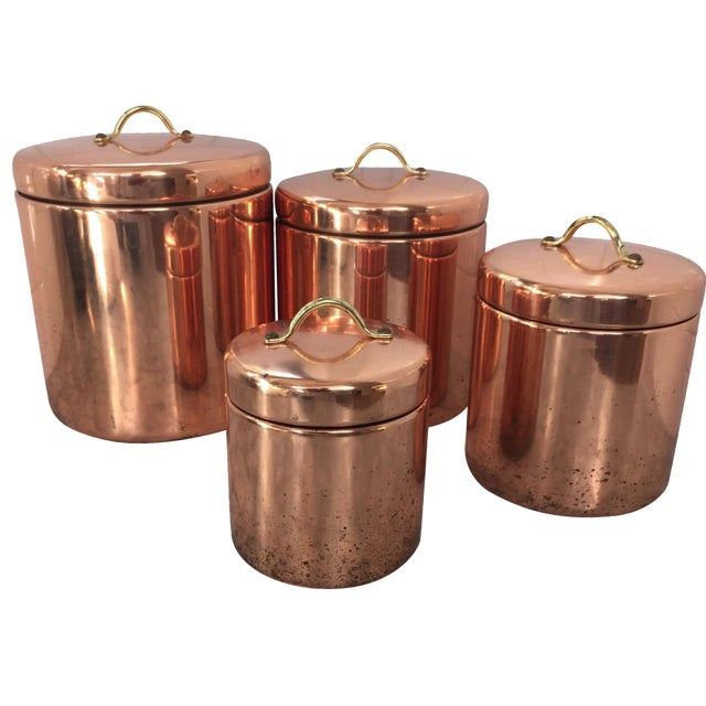 Vintage Nesting Copper Canisters - Set of 4 - Image 1 of 5