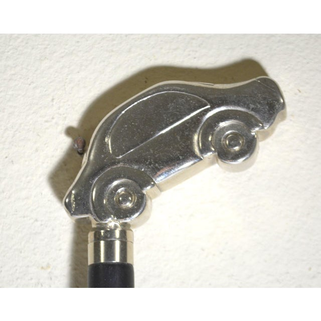 Art Deco Amber Lucite Shoehorn With Chrome Car Handle For Sale - Image 3 of 7