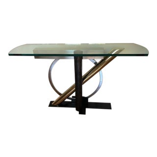 Kaizo Oto for Design Institute of America Postmodern Console Table For Sale