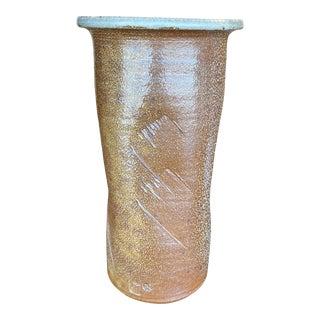 1960s Brown Ceramic Flower Vase For Sale