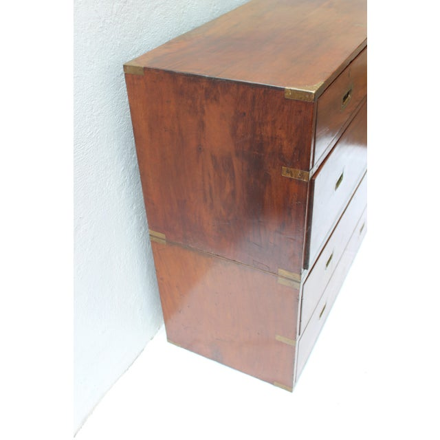 19th Century English Campaign Chest For Sale - Image 10 of 13