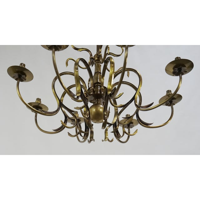 Grag Studios 8 Light Brass Chandelier - Image 10 of 10