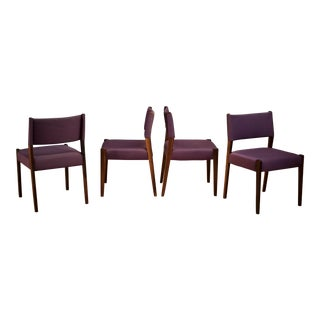 Vintage Set of Four Rosewood Dining Chairs by Sergio Rodrigues - Set of 4 For Sale