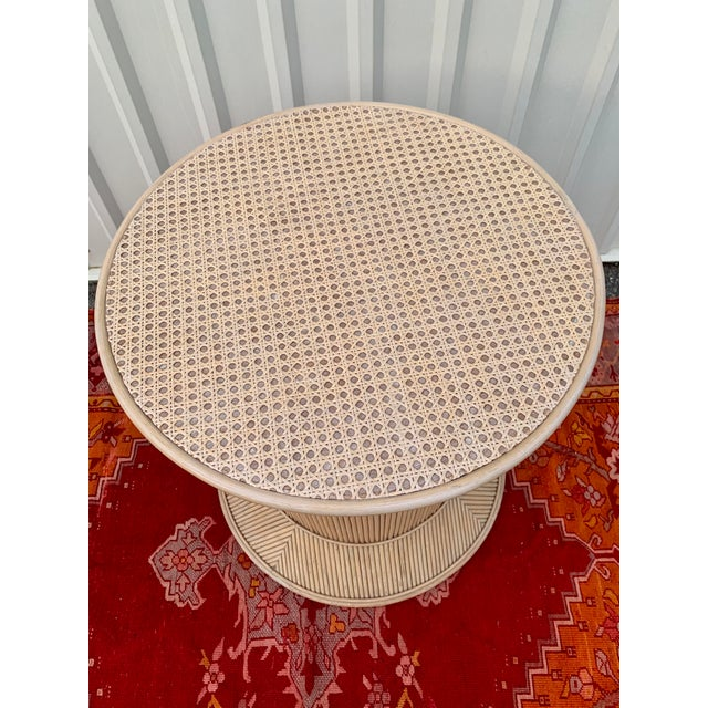 Mid 20th Century Split Reed Bamboo Rattan Dining Table Base in Crespi Style For Sale - Image 5 of 12