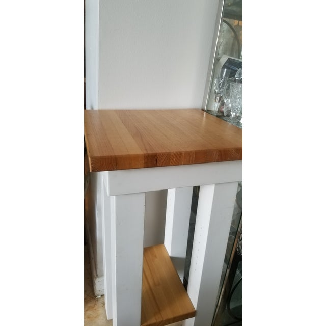 Small Butcher Block Tall Bar/ Island Table For Sale In Miami - Image 6 of 9