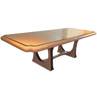 1970s Modern Enrique Garcel Lacquered Goatskin Dining Table For Sale