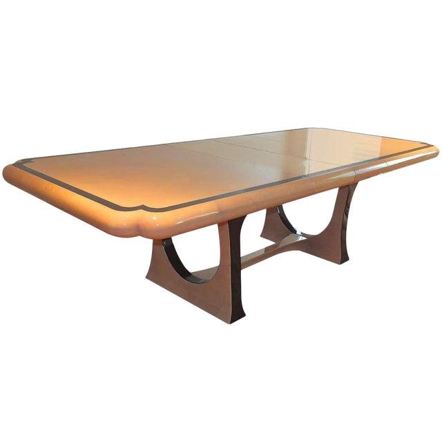 1970s Modern Enrique Garcel Lacquered Goatskin Dining Table For Sale