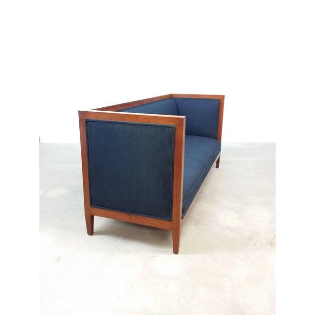 Mid-Century Modern Walnut Framed Even Armed Sofa For Sale - Image 3 of 5