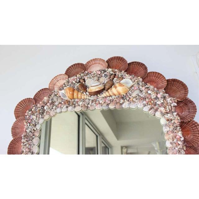 Hollywood Regency Seashell Encrusted Mirror by Snob Galeries For Sale - Image 3 of 13