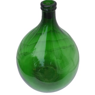 French Green Demijohn Wine Bottle