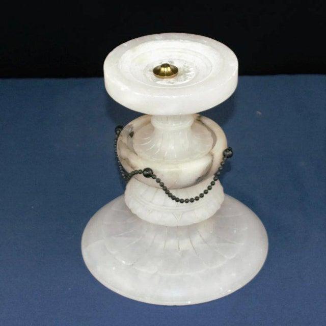 Carved Alabaster Tazza For Sale In Denver - Image 6 of 7