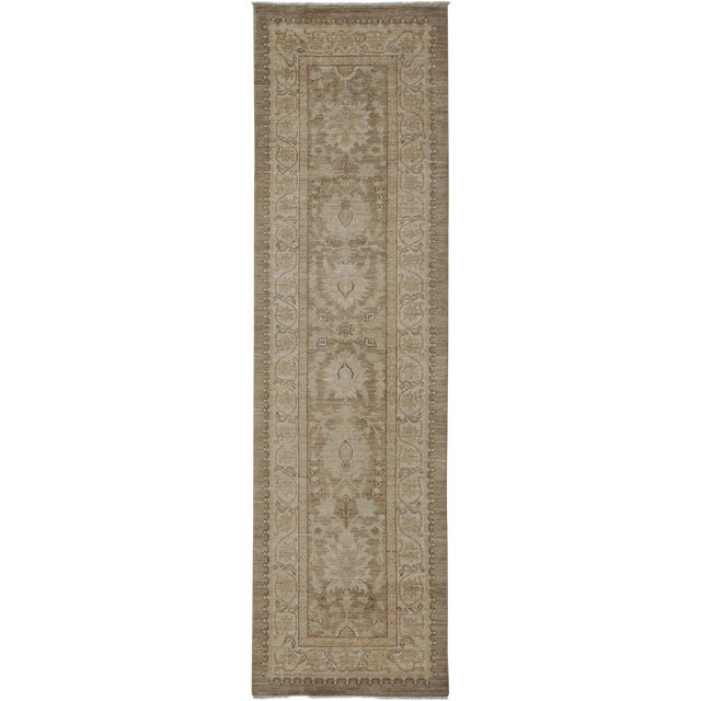 "Oushak Hand Knotted Runner - 2'9"" X 9'9"" - Image 1 of 3"