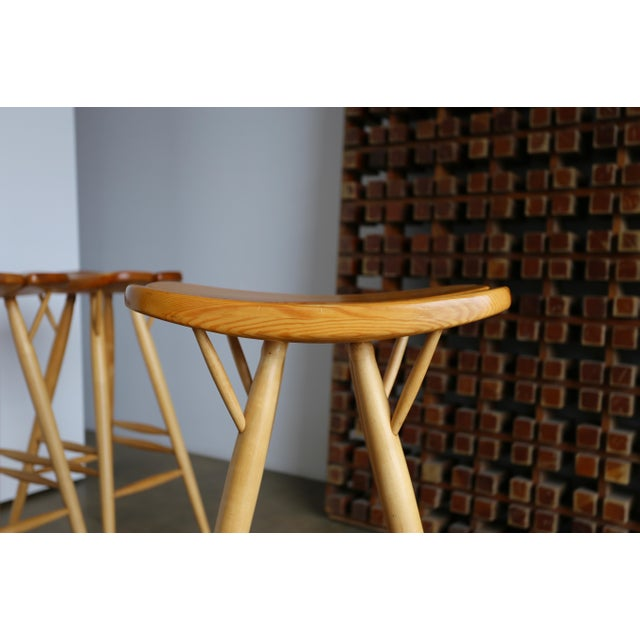 Maple Mid Century Ilmari Tapiovaara Stools - Set of 4 For Sale - Image 7 of 12