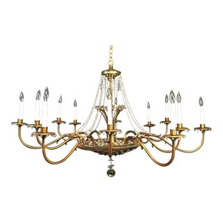 Monumental Mid-Century Modern Chandelier by Paavo Tynell For Sale