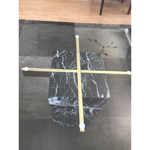 Black Marble Artedi Nero Marquina Marble Side Tables - A Pair For Sale - Image 7 of 10