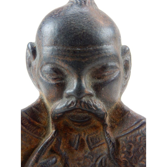Antique Chinese Solid Bronze Buddha Ashtray For Sale - Image 10 of 10