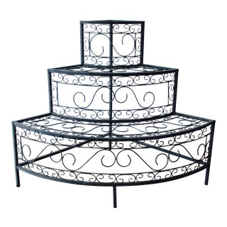 French Mediterranean Tiered Plant Flower Stand