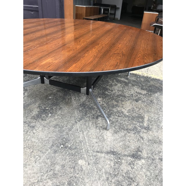 """Charles Eames 78""""d Eames Herman Miller Rosewood Conference Table For Sale - Image 4 of 12"""