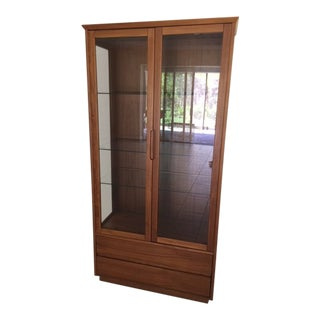 1960s Scandinavian Design China Cabinet For Sale